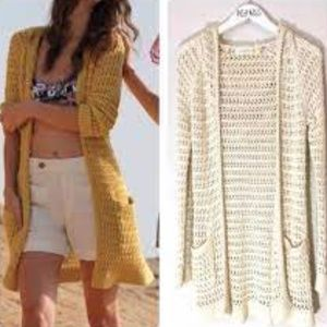 Anthro Charlie & Robin Open Knit Cardigan
